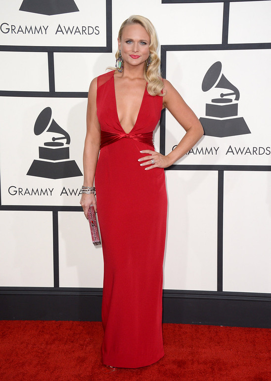. Miranda Lambert arrives at the 56th annual Grammy Awards at Staples Center on Sunday, Jan. 26, 2014, in Los Angeles. (Photo by Jordan Strauss/Invision/AP)