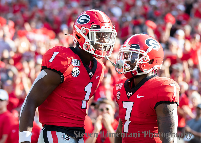 D'Andre Swift #7, George Pickens #1