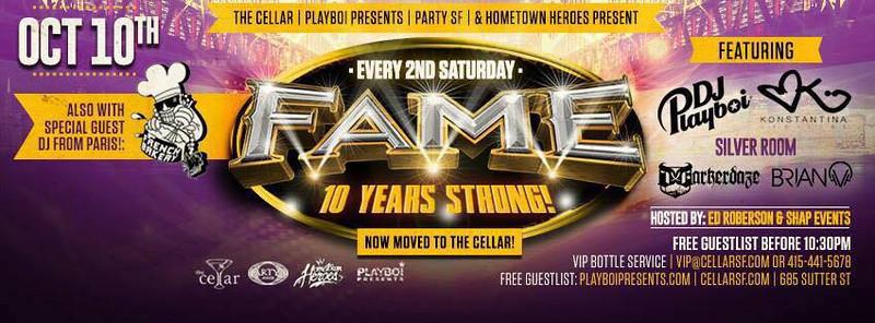Fame @ CellarSF 10.10.15
