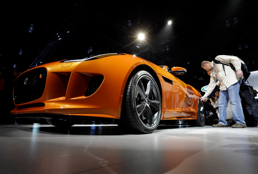 . Jaguar F-TYPE is shown during it\'s North American debut at the LA Auto Show in Los Angeles, Wednesday, Nov. 28, 2012. The annual Los Angeles Auto Show opened to the media Wednesday at the Los Angeles Convention Center. The show opens to the public on Friday, November 30. (AP Photo/Chris Carlson)