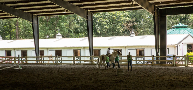 Chastain Horse Park provides therapeutic programs for special needs campers and for those in need of physical and occupational therapies.  The program is comprised of professional therapist, equestrians and volunteers.    (Jenni Girtman / Atlanta Event Photography)