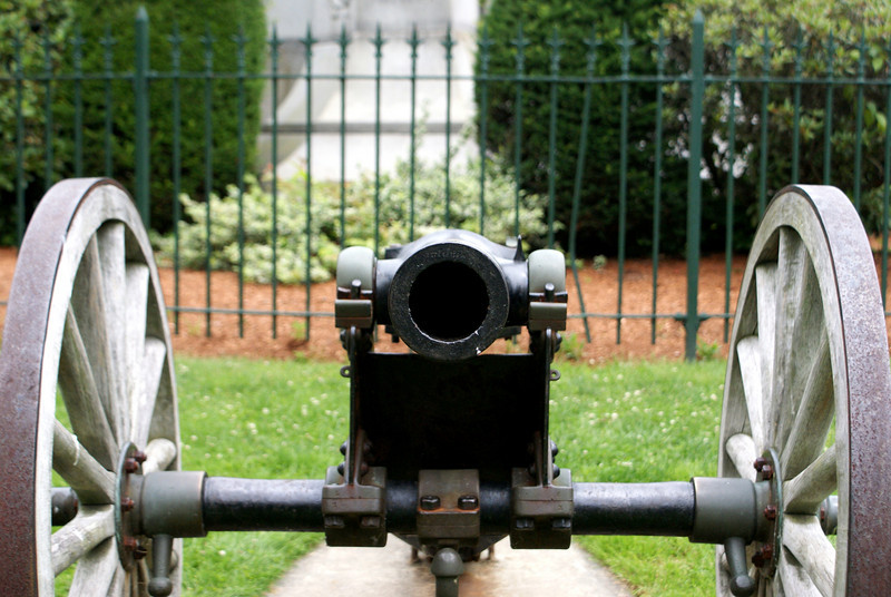 The business end of the cannon: