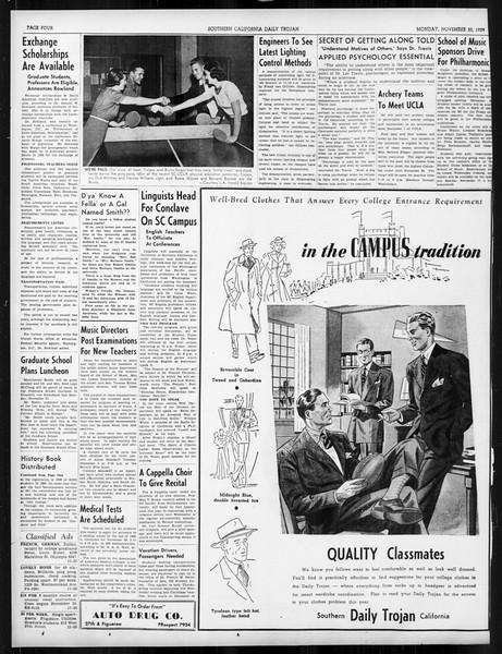 Daily Trojan, Vol. 31, No. 46, November 20, 1939