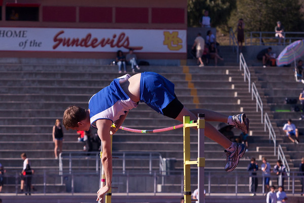 Josh Pole Vaulting at Mt. Carmel Invitational - 2012-03-03
