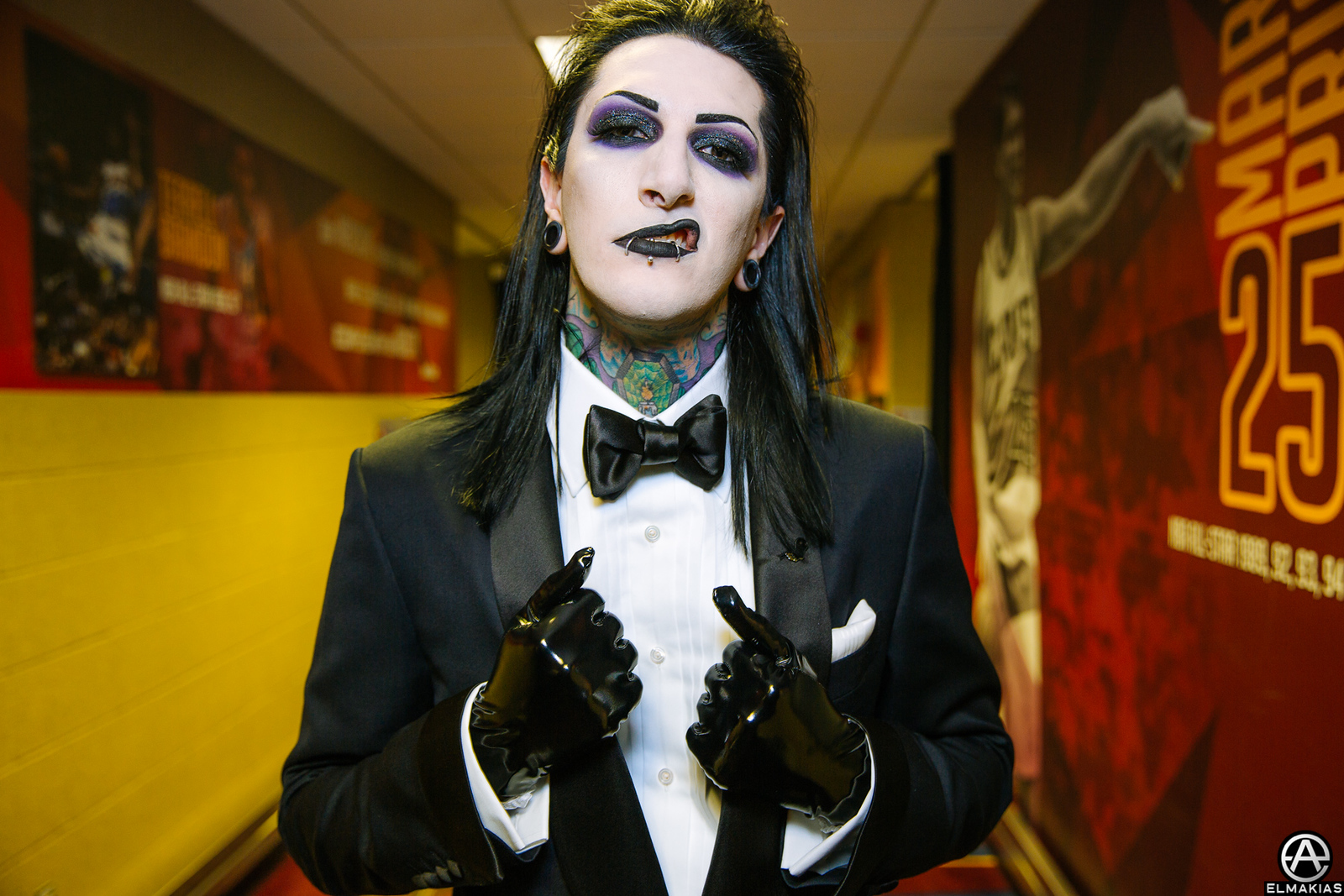 Chris Motionless of Motionless In White at the APMAs 2015 by Adam Elmakias