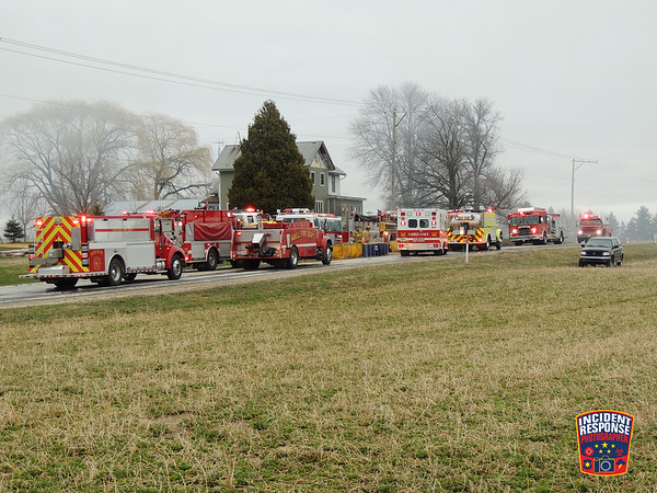 Barn fire on March 31, 2016