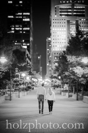 Erica & Chris B/W Engagement Photos