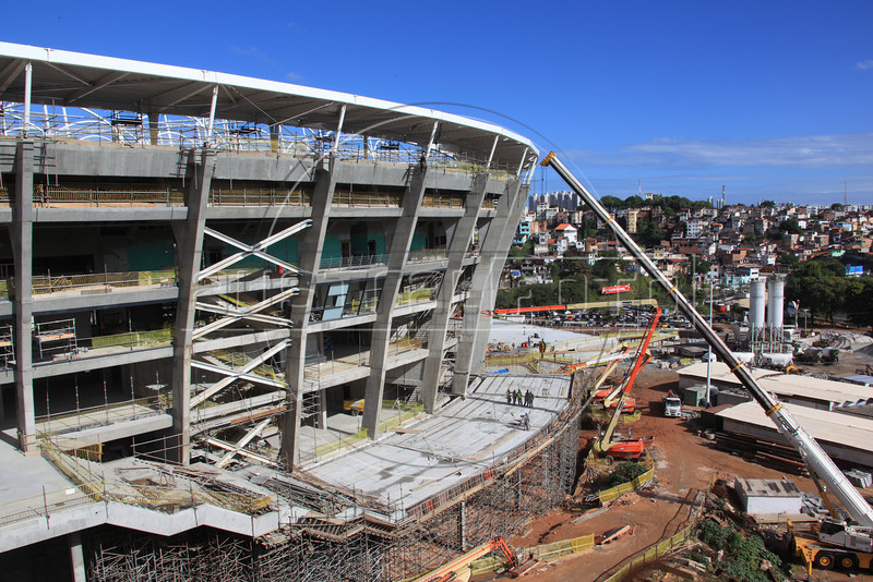 The Fonte Nova stadium in Salvador, Brazil. The stadium is site of both the Confederations Cup 2013 and World Cup 2014. (Australfoto/Douglas Engle)