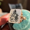 'Pineapple Family Crest' Chalcedony Ring, by Seal & Scribe 14