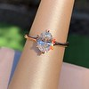 1.05ct Oval Cut Diamond Solitaire, GIA H SI1 24