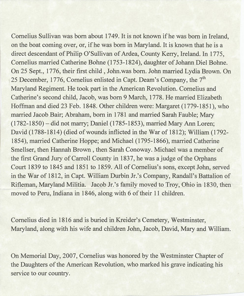 Cornelius Sullivan History.jpg