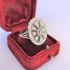 2.23ctw Old European Cut Diamond Filigree Ring 4