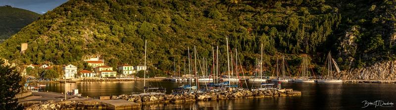 Morning light on Frikes Harbour
