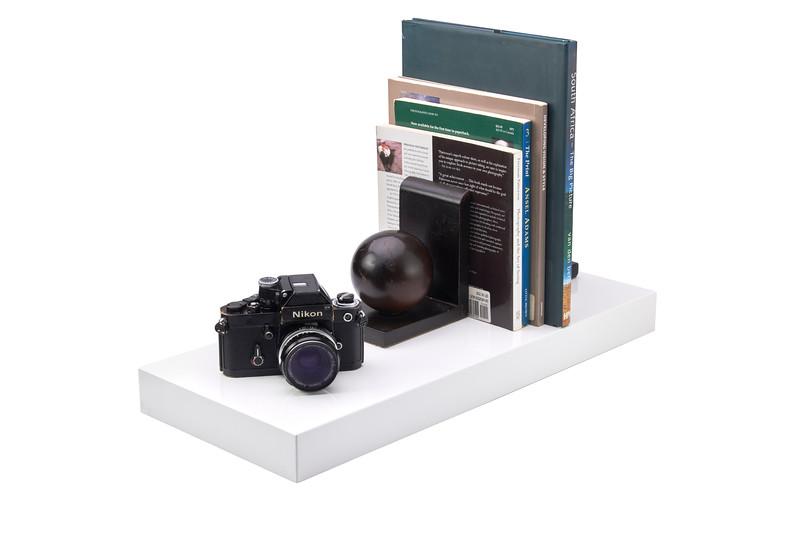 600mm x 250mm x 51mm Floating Shelf, White