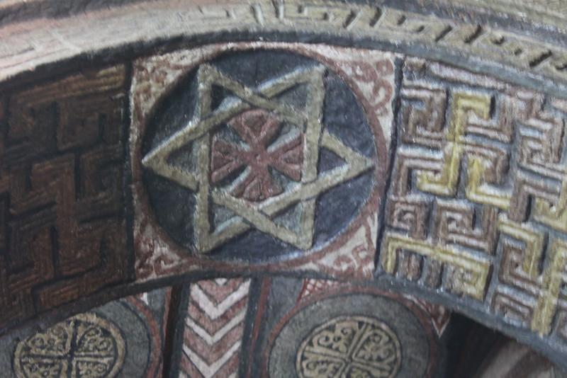 Star of David in church ceiling