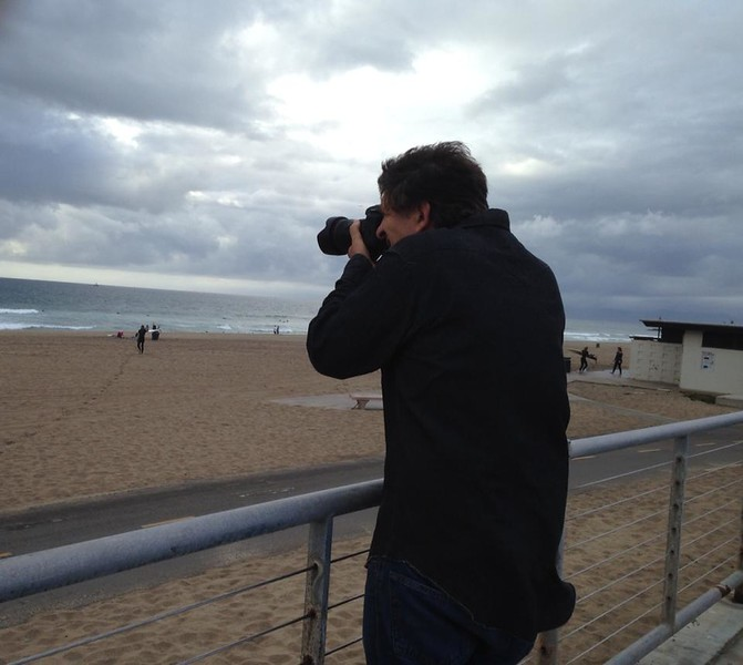 Photographing the waves in Manhattan Beach