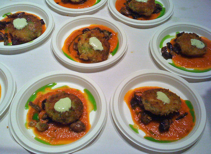Lobster & crab patties in a marina sauce from McCormick's & Schmidt's at #TasteCLT