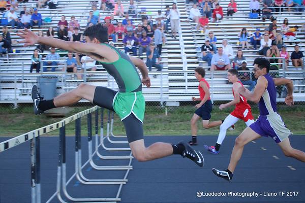 Burnet HS boys hurdles @ Llano