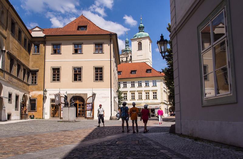 Ungelt Square, Prague. Old business place.