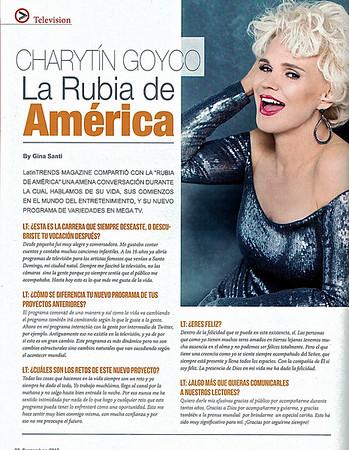 Charityn Goyco - La Rubia de America