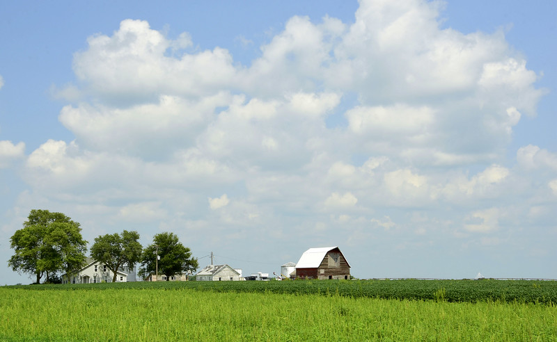 Modern Farm with Classic Old Barn