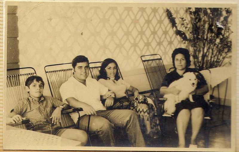 Dundo 1972 - Guilherme Santos (Galhé), Carlos Aires Marques, Lisa Pereira Santos e sra. do Aires Marques
