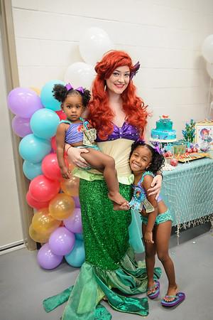 Paris & Londynn's Ariel Themed Birthday Party 073016