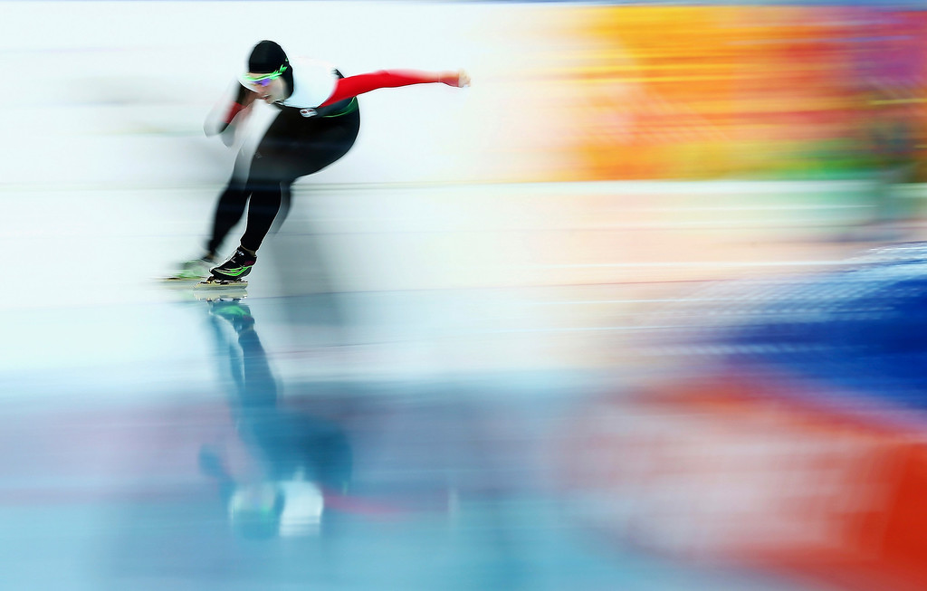 . Brianne Tutt of Canada competes during the Speed Skating Women\'s 1500m on day nine of the Sochi 2014 Winter Olympics at Adler Arena Skating Center on February 16, 2014 in Sochi, Russia.  (Photo by Ryan Pierse/Getty Images)