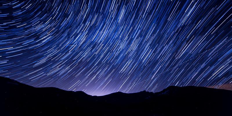 Star Trails over Mount Bierstadt