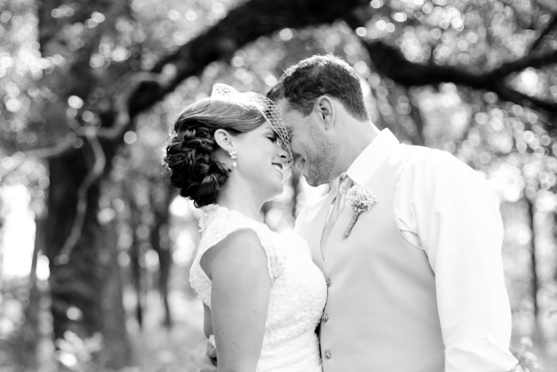 Bride and Groom's First Look and Bridal Party portraits at Morton Arboretum in Lisle, IL. Wedding photographer – Ryan Davis Photography – Rockford, Illinois.