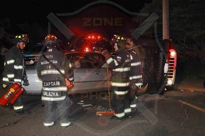 North Massapequa F.D. MVA w/ Overturn N. Boston Ave. and N. Baldwin Dr. 7/6/13