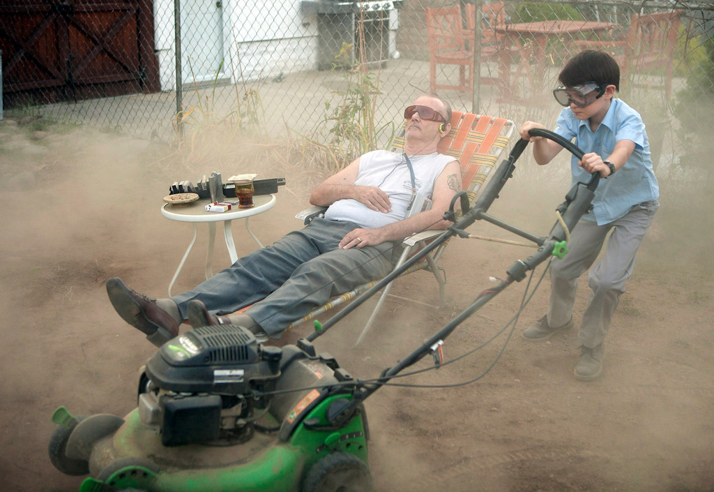 """. This image released by The Weinstein Company shows Bill Murray, left, and Jaeden Lieberher in a scene from the film, \""""St. Vincent.\"""" The film was nominated for a Golden Globe for best comedy on Thursday, Dec. 11, 2014. The 72nd annual Golden Globe awards will air on NBC on Sunday, Jan. 11. (AP Photo/The Weinstein Company, Atsushi Nishijima)"""