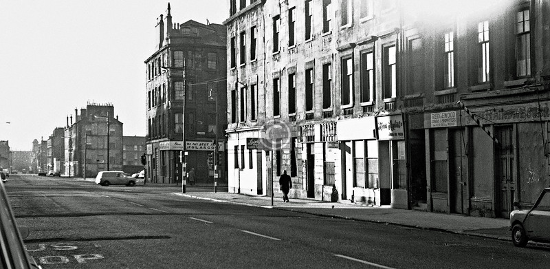 Gallowgate, north side at Bellgrove St. 