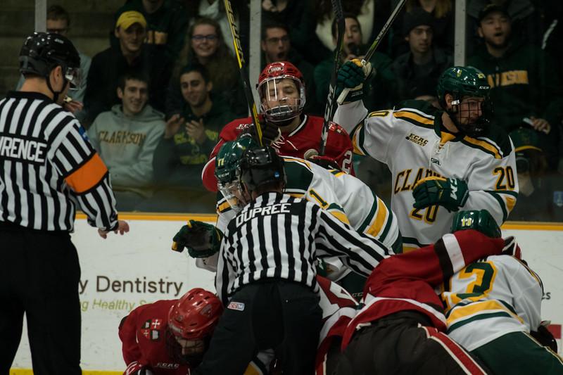 Clarkson Athletics: Men Hockey vs. St. Lawrence (SLU). Clarkson Win 3 to 1