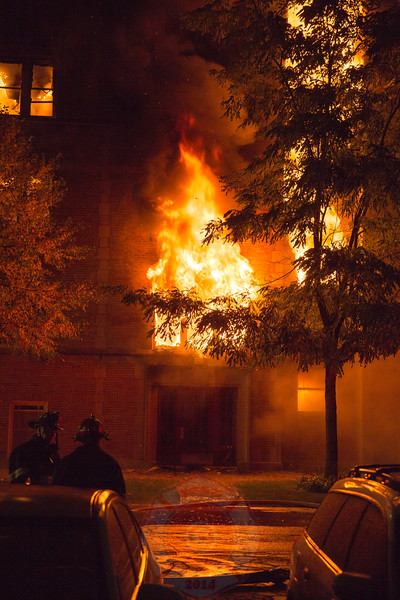 4-11 Alarm Of Fire 200 Block Of Washington Oak Park Illinois October 2015