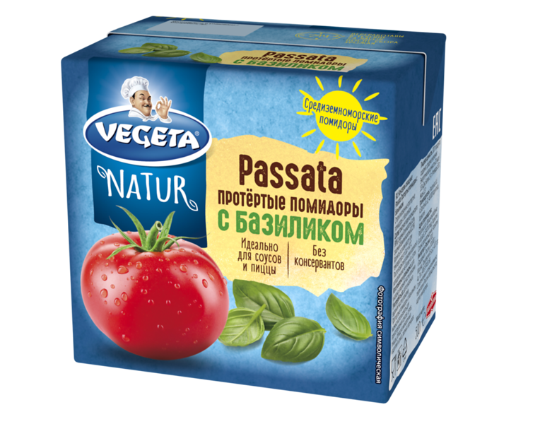 268099  PODRAVKA Vegeta Natur PASSATA tomatipüree basiilikuga  500g 3856020242442