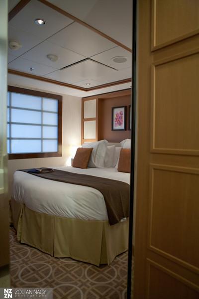 Celebrity suite bedroom