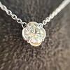0.67ct Transitional Cut Diamond Pendant Clover Setting 17