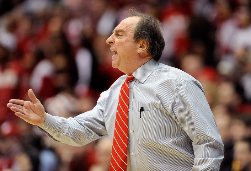. Head coach Fran Dunphy of the Temple Owls looks on from the sideline in the second half against the Indiana Hoosiers during the third round of the 2013 NCAA Men\'s Basketball Tournament at UD Arena on March 24, 2013 in Dayton, Ohio.  (Photo by Jason Miller/Getty Images)
