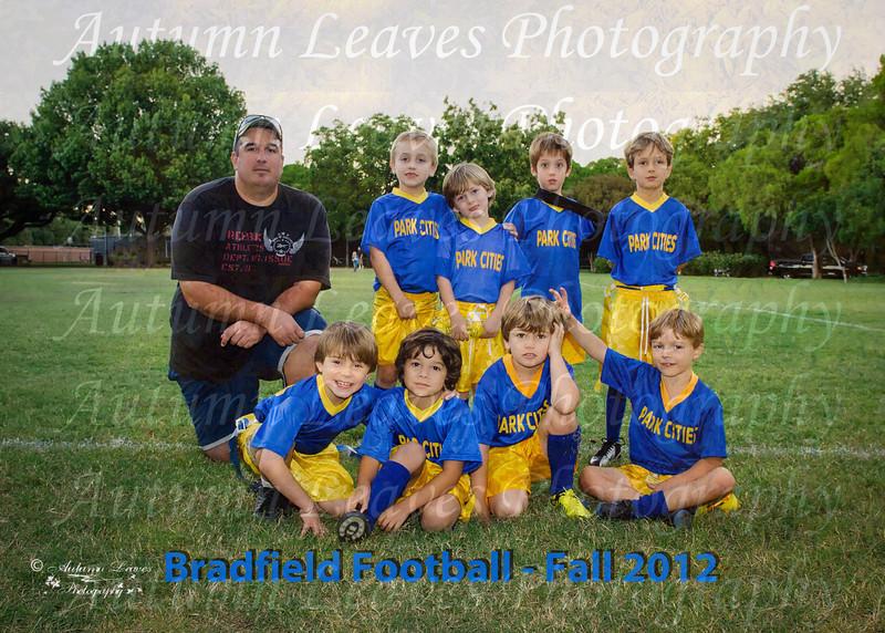 Bradfield 1st Grade Football - Fall 2012