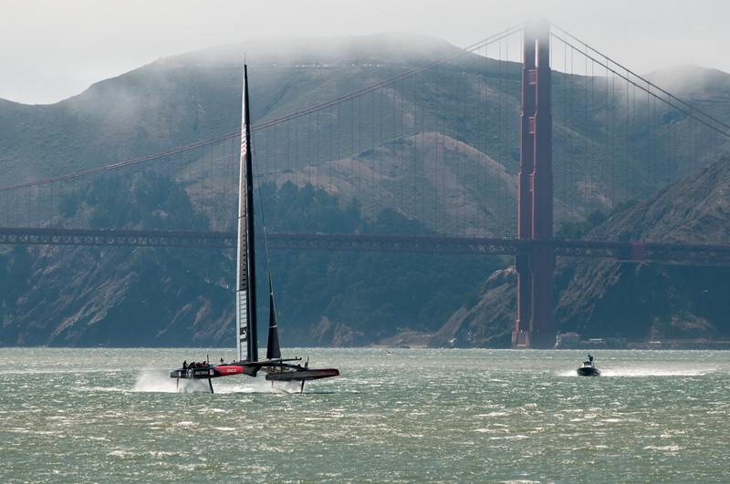 Zufällig war auch wieder das Team Oracle auf dem Wasser.