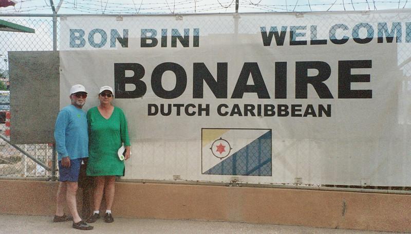 Arriving in Bonaire.
