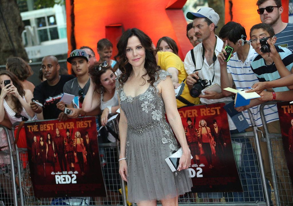 . Mary-Louise Parker arrives on the red carpet for the European Premiere of Red 2, at a central London cinema, Monday, July 22, 2013. (Photo by Joel Ryan/Invision/AP)