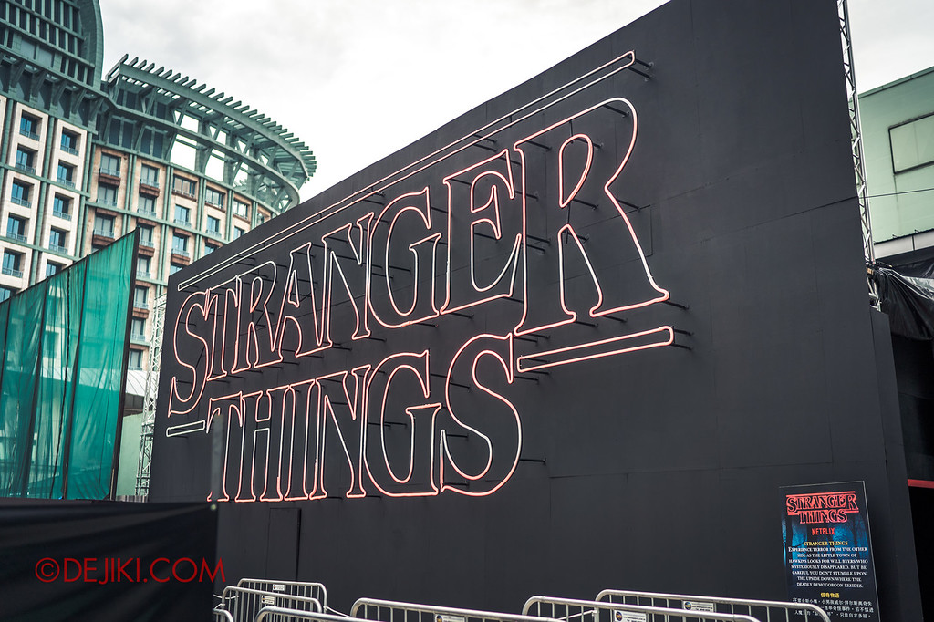 USS Halloween Horror Nights 8 RIP Tour Review - Behind the Screams Tour 2018 Stranger Things exterior