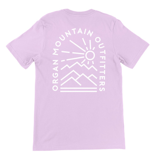 Organ Mountain Outfitters - Outdoor Apparel - Unisex T-Shirt - Elevation Tee - Heather Prism Lilac Back.jpg