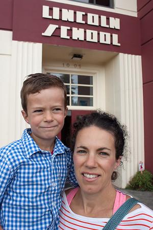 Eli's first day of Kindergarten