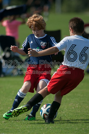 EAST WAKE HAMMERS vs GUSA U11 SILVER - U11 Boys 8/16/2014