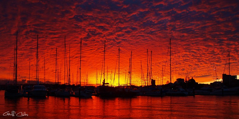 Crimson Nautical Sunset.