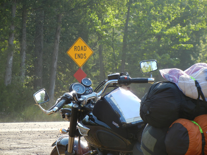 End of Highway 41, north of Copper Harbor, on the way to High Rock Bay.