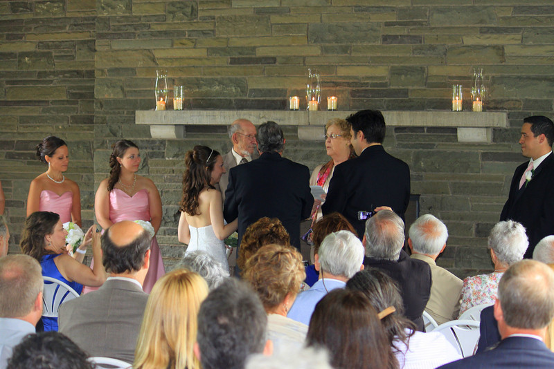 Richard and Helen Louise Bowser perform the ceremony